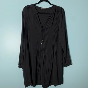 VIX Paula Hermanny Black Long Sleeve Swim Cover Up